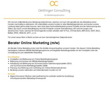 Berater Online Marketing